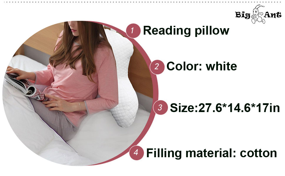 Amazon Com Big Ant Reading Pillow Bed Rest Pillow