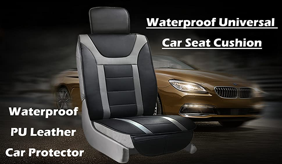 waterproof universal car seat cover cushion non slip pu leather car protector save. Black Bedroom Furniture Sets. Home Design Ideas