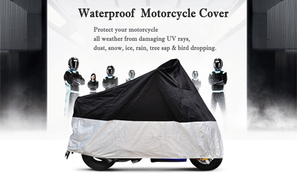 All Weather Motorcycle Cover Large Waterproof Fabric Protector Bike Lover Gift