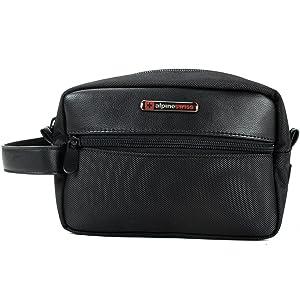Amazon.com  Alpine Swiss Hudson Travel Toiletry Bag Shaving Dopp Kit ... b22120f215