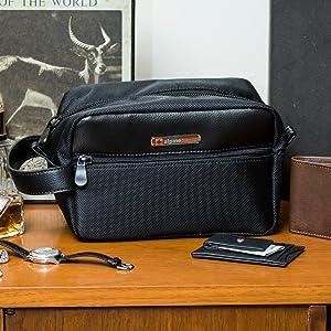 Amazon.com  Alpine Swiss Hudson Travel Toiletry Bag Shaving Dopp Kit ... df254742f9bb0