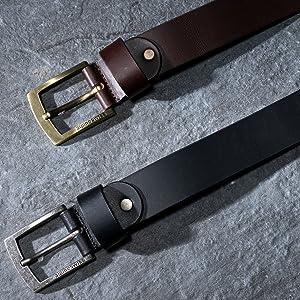 mens leather belt genuine leather casual 35mm strap belt alpine swiss