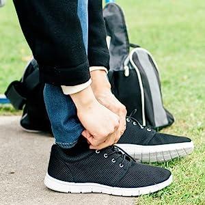mens mesh low top fabric sneakers tennis shoes