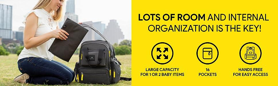 Amazon.com: bagitalist bebé pañal bolsa Backpack- alta ...