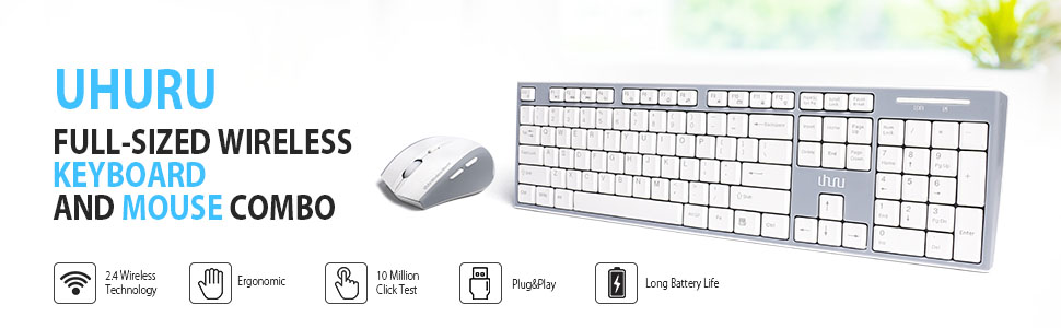 wireless keyboard mouse combo