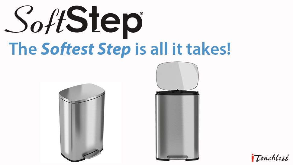 softstep stainless steel trash can