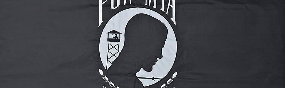 POW MIA Flag 4/' x 6/' Ft 210D Nylon Premium Outdoor Embroidered Double Sided Flag