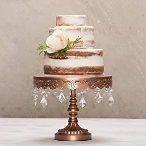 wedding cake stand rose gold collection gold 10 inch metal 25645