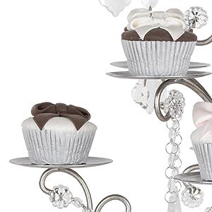 Metal frame cupcake holder plates