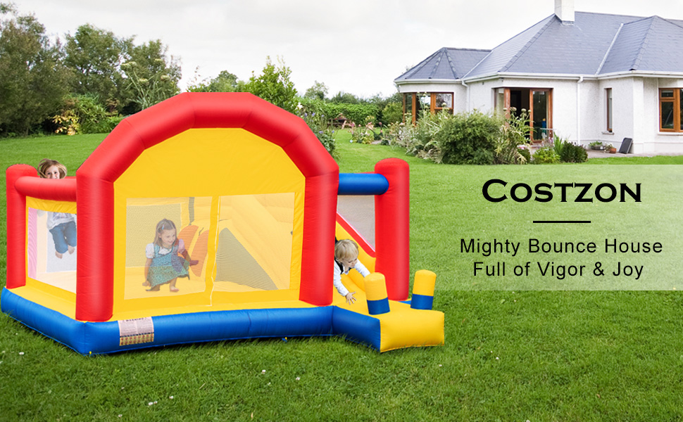 Amazon.com: Costzon Casa de rebote para niños, inflable ...