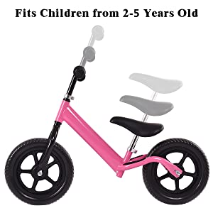 e84418445f3 Amazon.com: Costzon Kids Balance Bike, 12 Inch Classic Lightweight ...