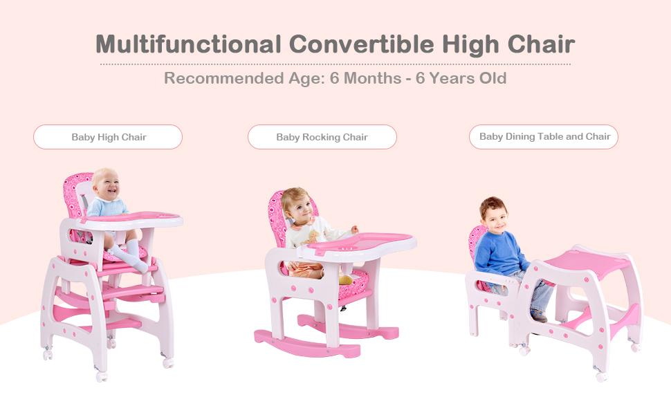 Amazon.com: Costzon Silla alta para bebé, juego de mesa de ...