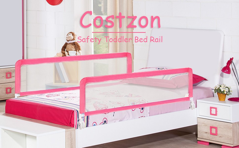 Anself Baby Child Toddler Safety Bed Rail 102 x 42 cm Green