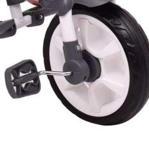 Non-slip front wheel foot pedal