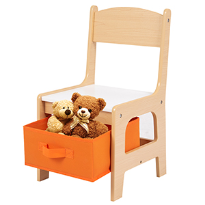 chair with storage box - Costzon Kids Table And 2 Chairs Set, 3 In 1 Wooden Table Furniture For Toddlers Drawing, Reading, Train, Art Playroom, Activity Table Desk Sets (Convertible Set With Storage Space)