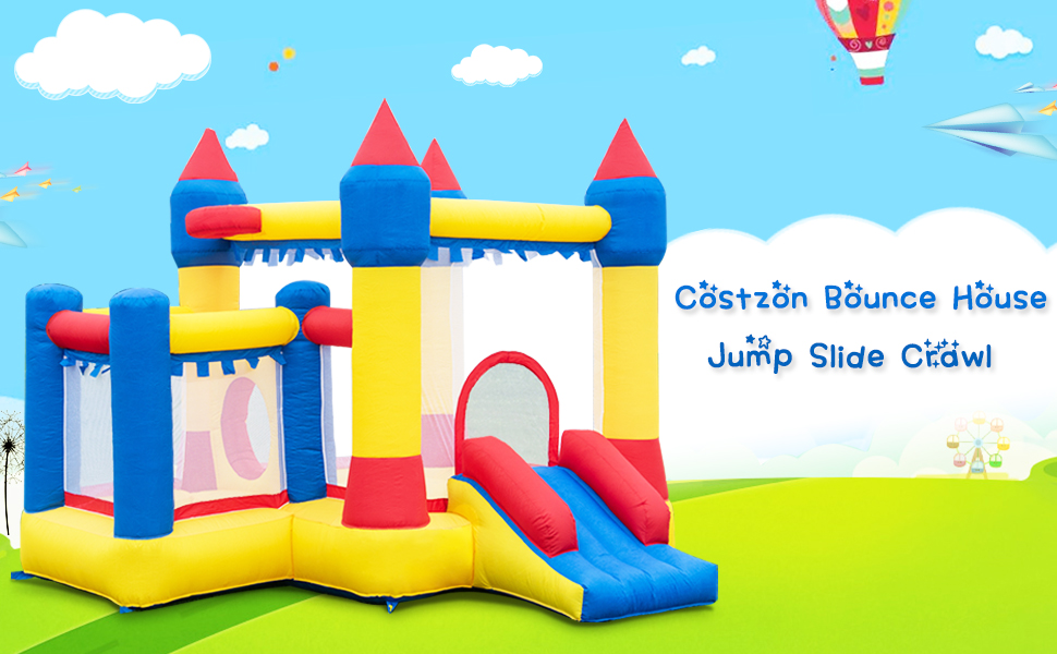 Amazon.com: costzon hinchable Bounce Casa Castillo Kids ...