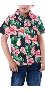 boys hawaiian floral shirts