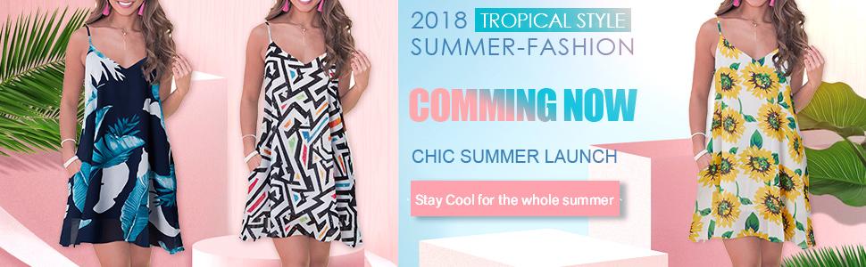 cool summer spaghetti strap dress