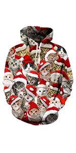 Christmas Cat Hoodies