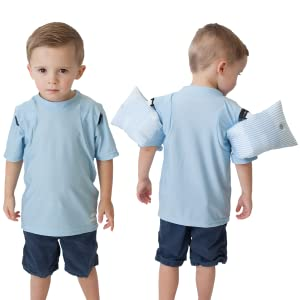 6af6b857 Amazon.com : Otter Wings Kids Floaties (Water Wings)/UPF Swim Shirt ...