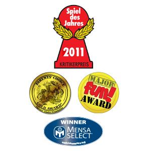 Spiel des Jahres, Mensa select, major fun award, parent's choice award, winner, best games