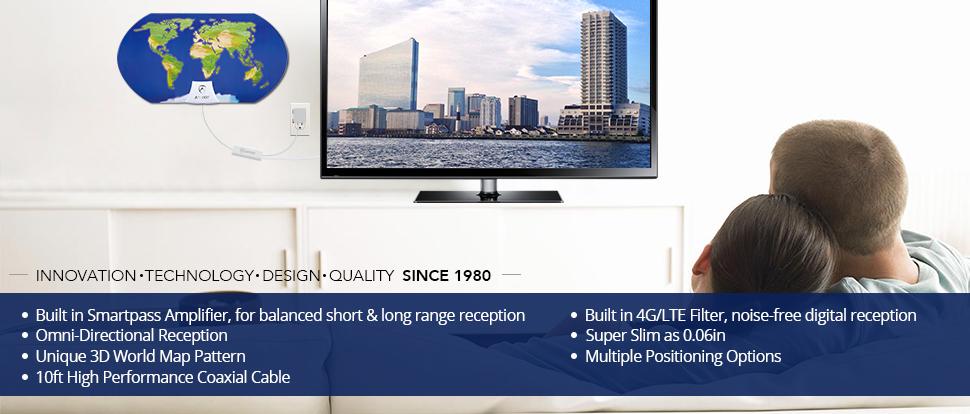 Amazon.com: World Map AT-122B Indoor HDTV Antenna: Electronics on