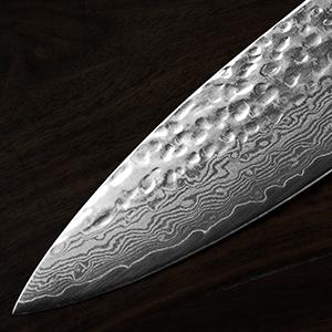 damascus layers Japanese chef knife VG-10 hammered finish