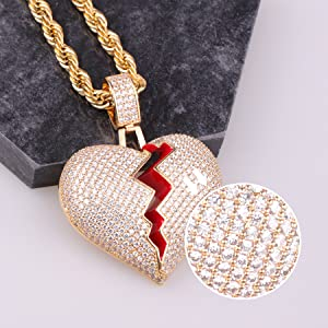 Borken Heart Necklace