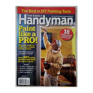 Family Handyman Magazine Cover - DIY Painting Tools Review Issue