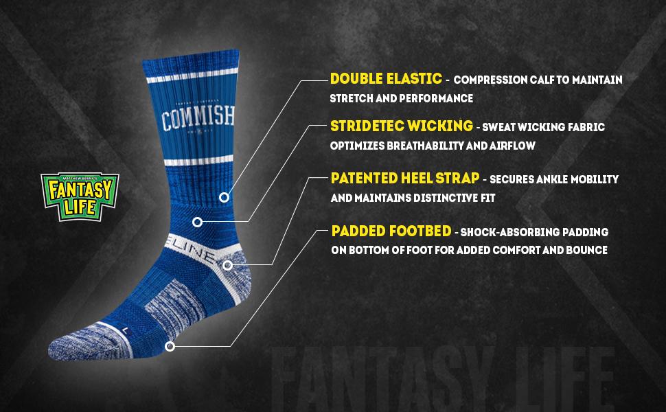 fe908085 Amazon.com: Fantasy Life - Matthew Berry's Fantasy Football Socks ...