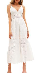 lace cotton maxi dress