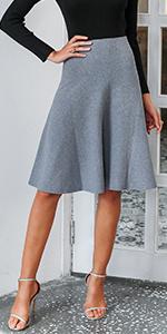 a line flare midi skirt