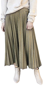 pleated long skirts for women