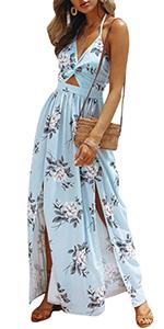 backless split maxi dress