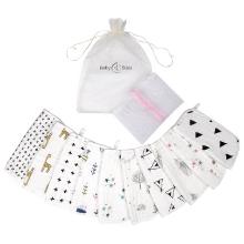 10 muslin washcloths