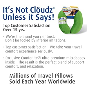 Cloudz Microbead Travel Neck Pillow