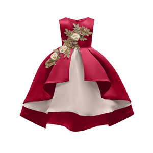 AIMJCHLD 2-9T Girls Flower Dress Kids Formal Special Occasion Party Dresses