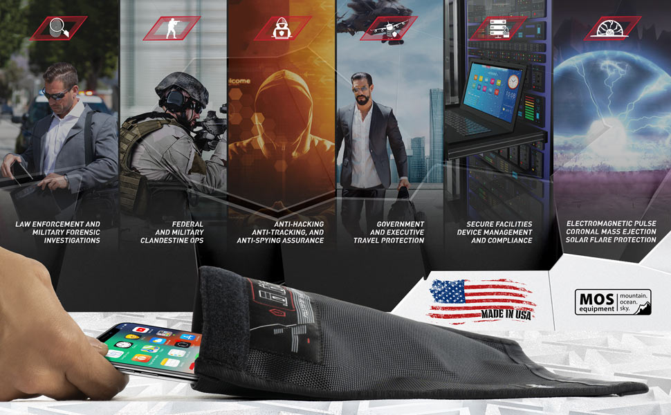 Mission Darkness Faraday Bag for Phones Features