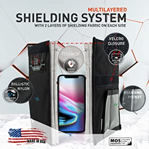Mission Darkness Faraday Bag for Phones Layers