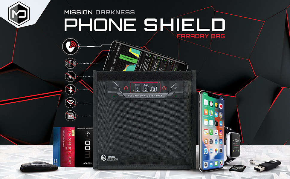 Mission Darkness Phone Shield Faraday Bag
