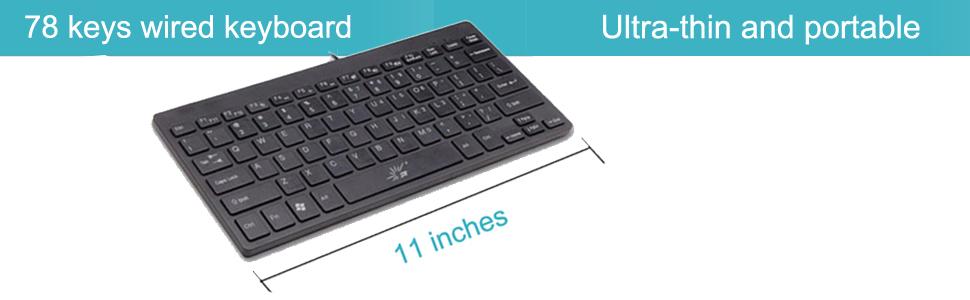 Teclado num/érico Duradero de 18 para computadora port/átil de Escritorio Teclado num/érico USB Mini Teclado num/érico Negro con Interfaz USB