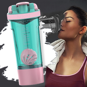 Take this high quality shaker bottle with you to the gym to stay motivated