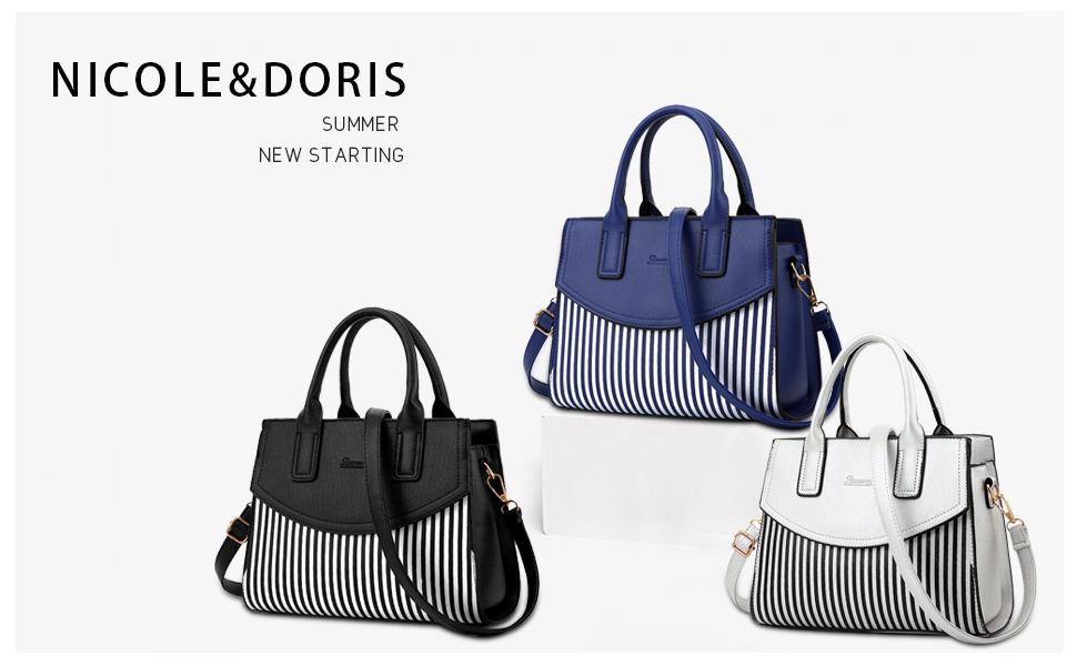 9aeb2b0cf2c6 Amazon.com: NICOLE&DORIS New Women/Ladies Fashion Handbag Messenger ...