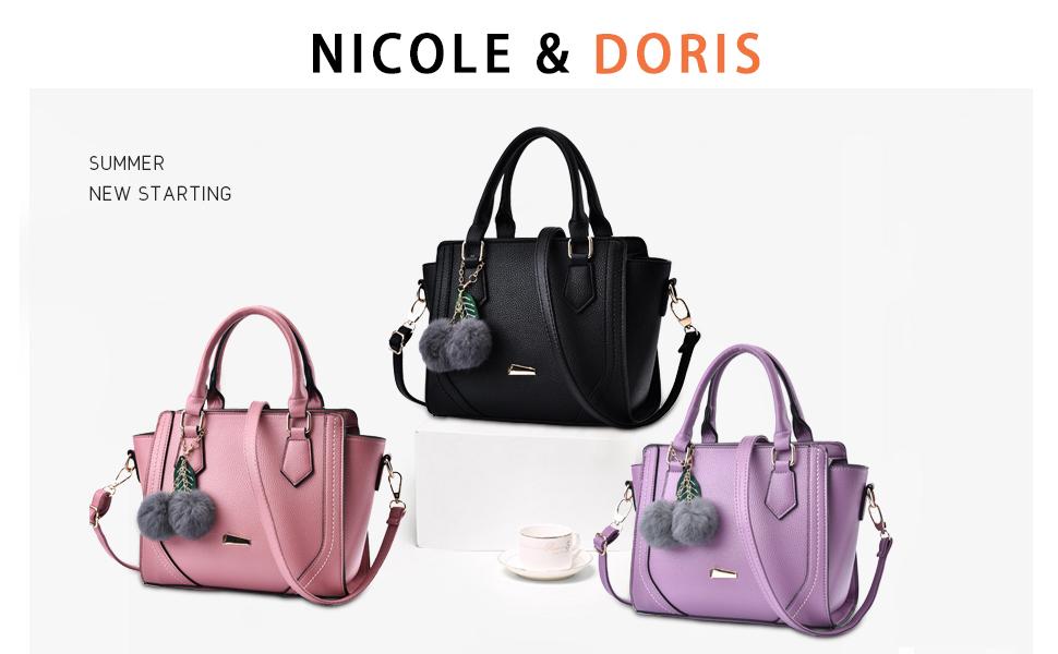 62debbf3fd92 Amazon.com: NICOLE&DORIS Women/Ladies Casual Fashion Handbag ...