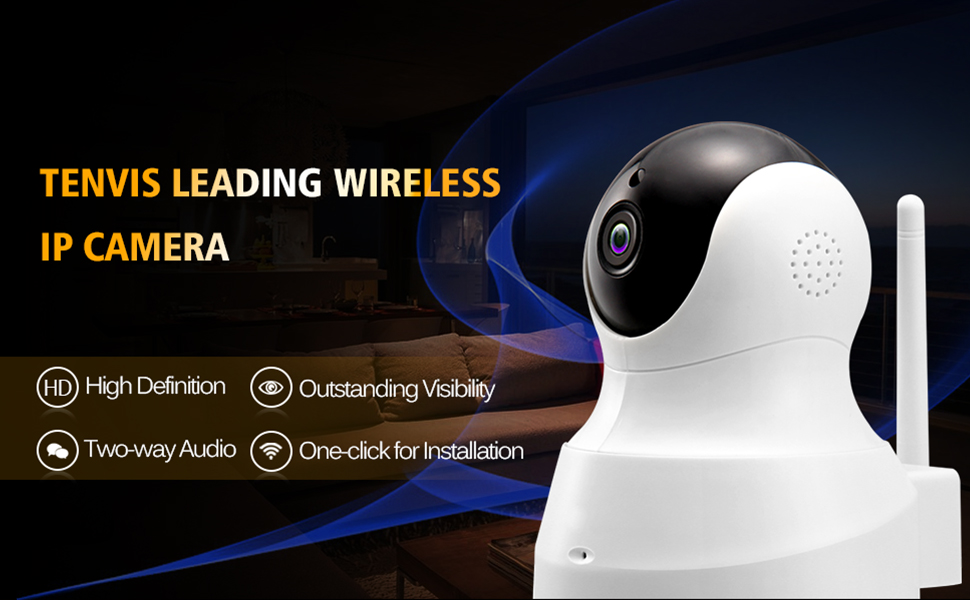 TENVIS WIRELESS IP CAMERA pet camera baby monitor home security remote monitor motion detection