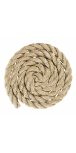 promanila unmanila tan twisted 3 strand polypro rope marine nautucal DIY cord indoor outdoor twisted
