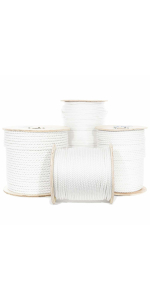 Twisted Polyester Rope White Low Stretch Truck Rope String Line Winching Rigging Cord on Spool stack