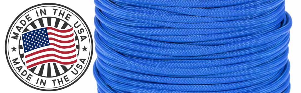 paramax paracord planet made in usa america blue