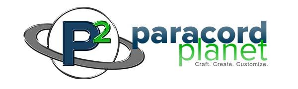 Paracord Planet Logo P2 Blue Gray Green White Circle Ring Craft Create Customize Horizontal Long