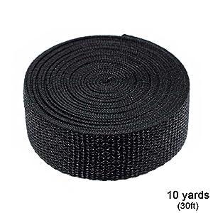 black nylon webbing 10 yards 30 feet